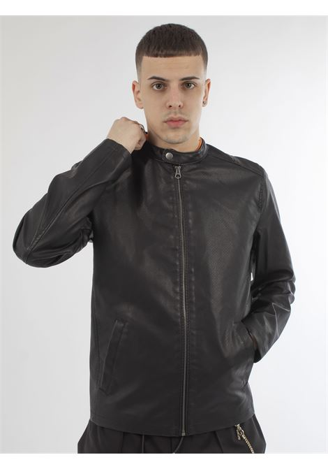 biker jacket JACK & JONES | Giubbini | 12173576NERO