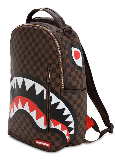 ZAINO SHARK IN PARIS CHECK SPRAYGROUND | Zaini | 910B1890NSZMARRONE
