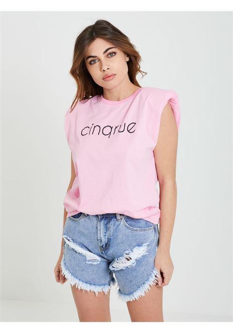 T-shirt 5 RUE | Canotte | SS1064ROSA