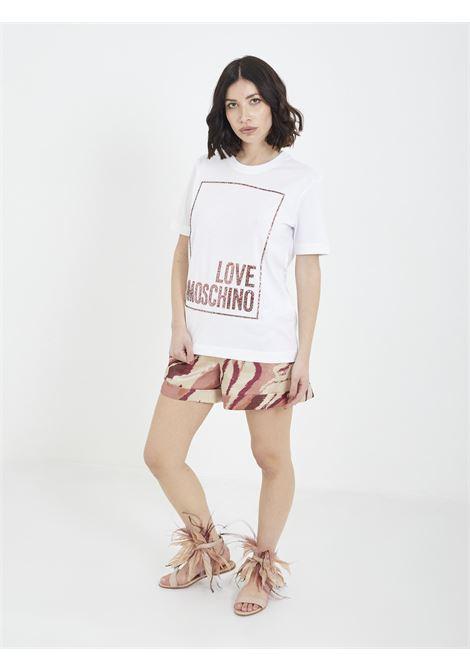 T-shirt MOSCHINO | T-shirt | W4H06 05 MBIANCO