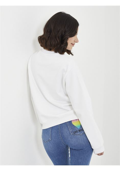sweatshirt MOSCHINO | Hoodies | W6306 38 MBIANCO