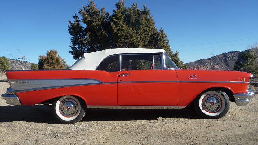 1957 Chevrolet Bel Air Convertible 283 250 Hp Fuel
