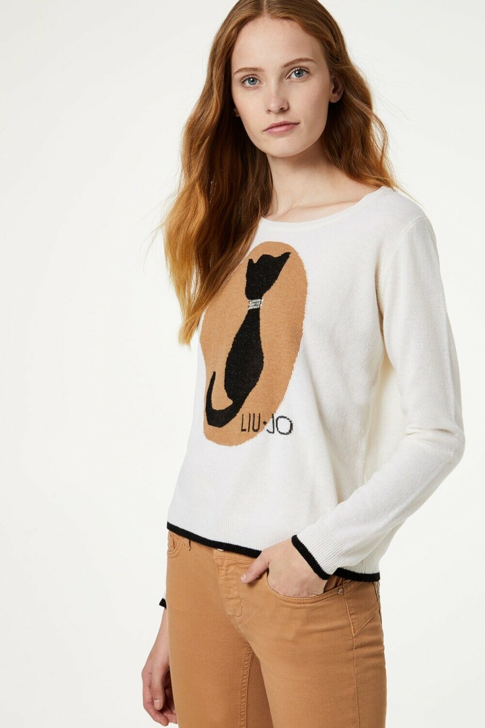 Wool sweater around neck LIUJO GOLD |  | C69315B3538
