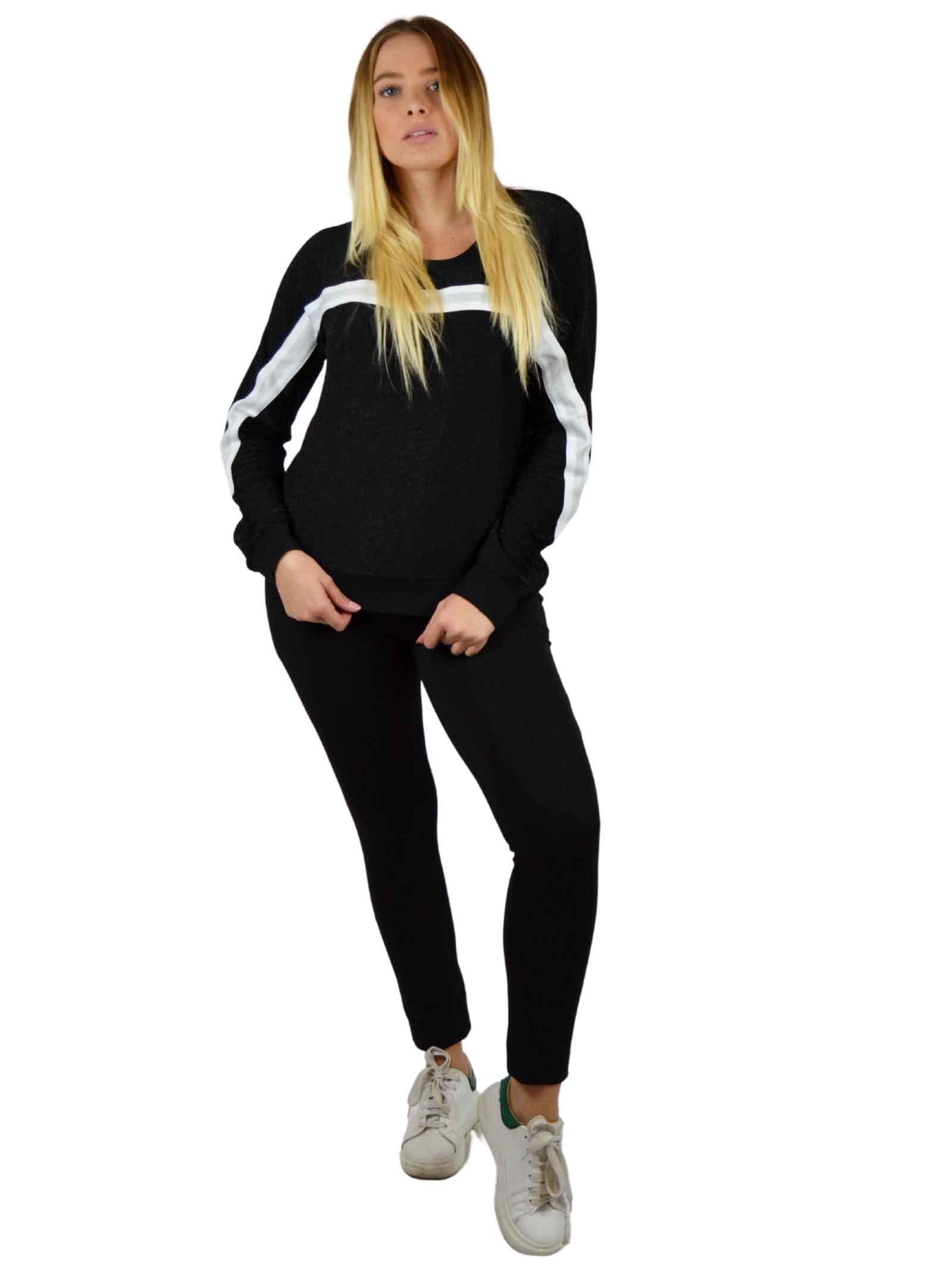 Crewneck sweater with lurex yarns LIUJO SPORT |  | TF0158J578903G52