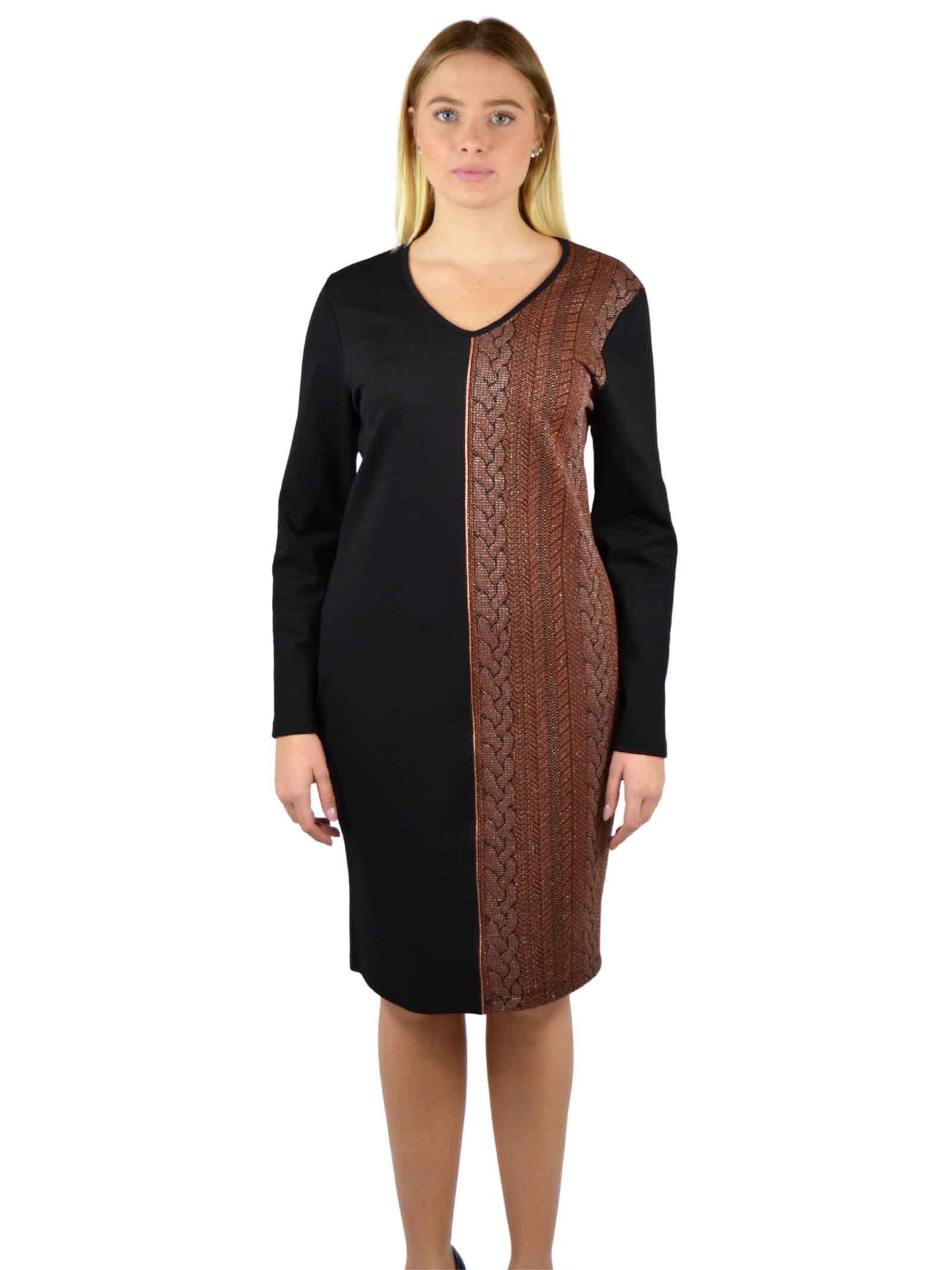 Sheat Dress long sleeves V neck MEALYS |  | CY-A32402