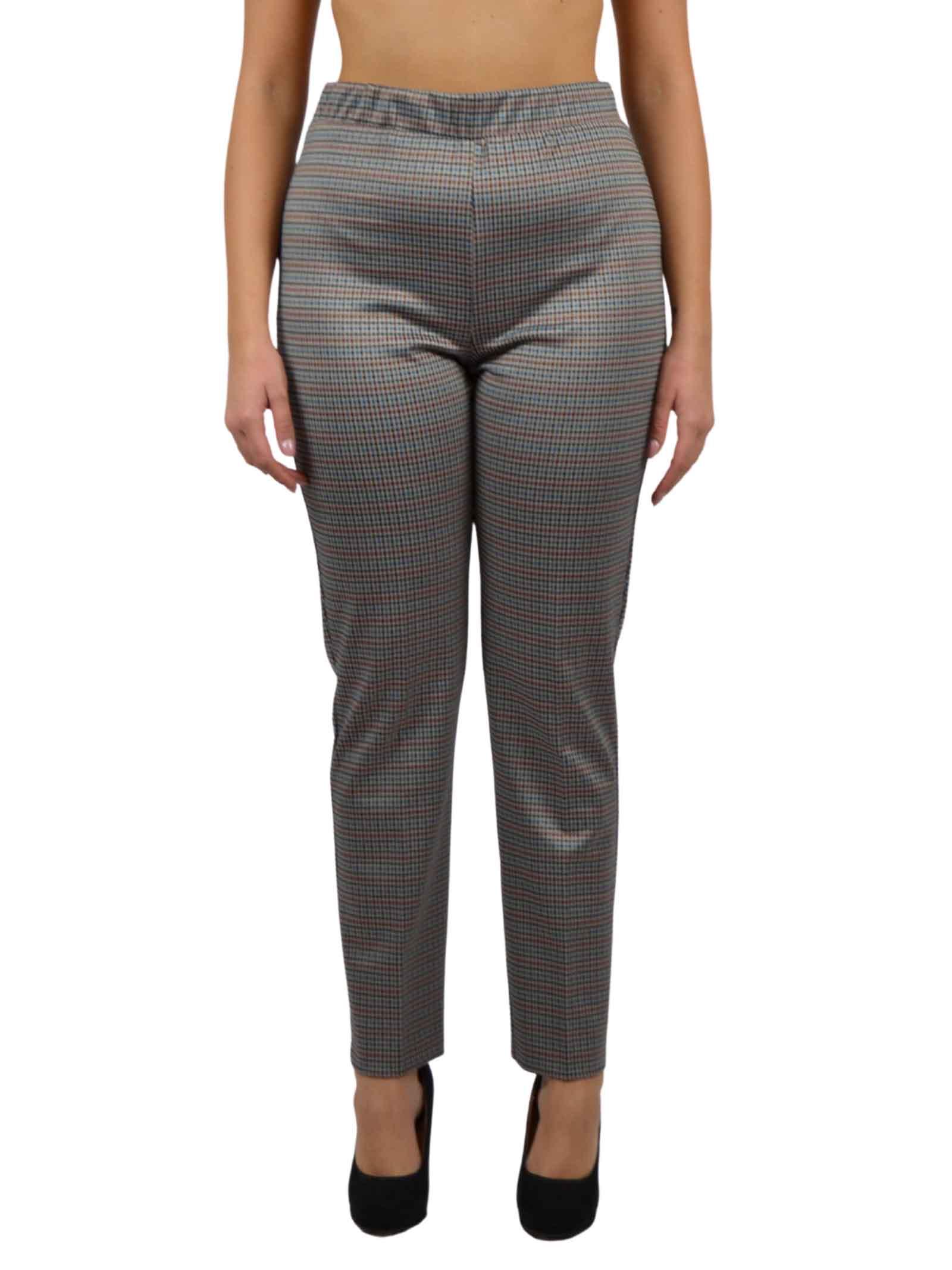 Trousers with elastic waistband fabric  BENEDETTA VALERI |  | GABINO-TORMALINATORMALINA