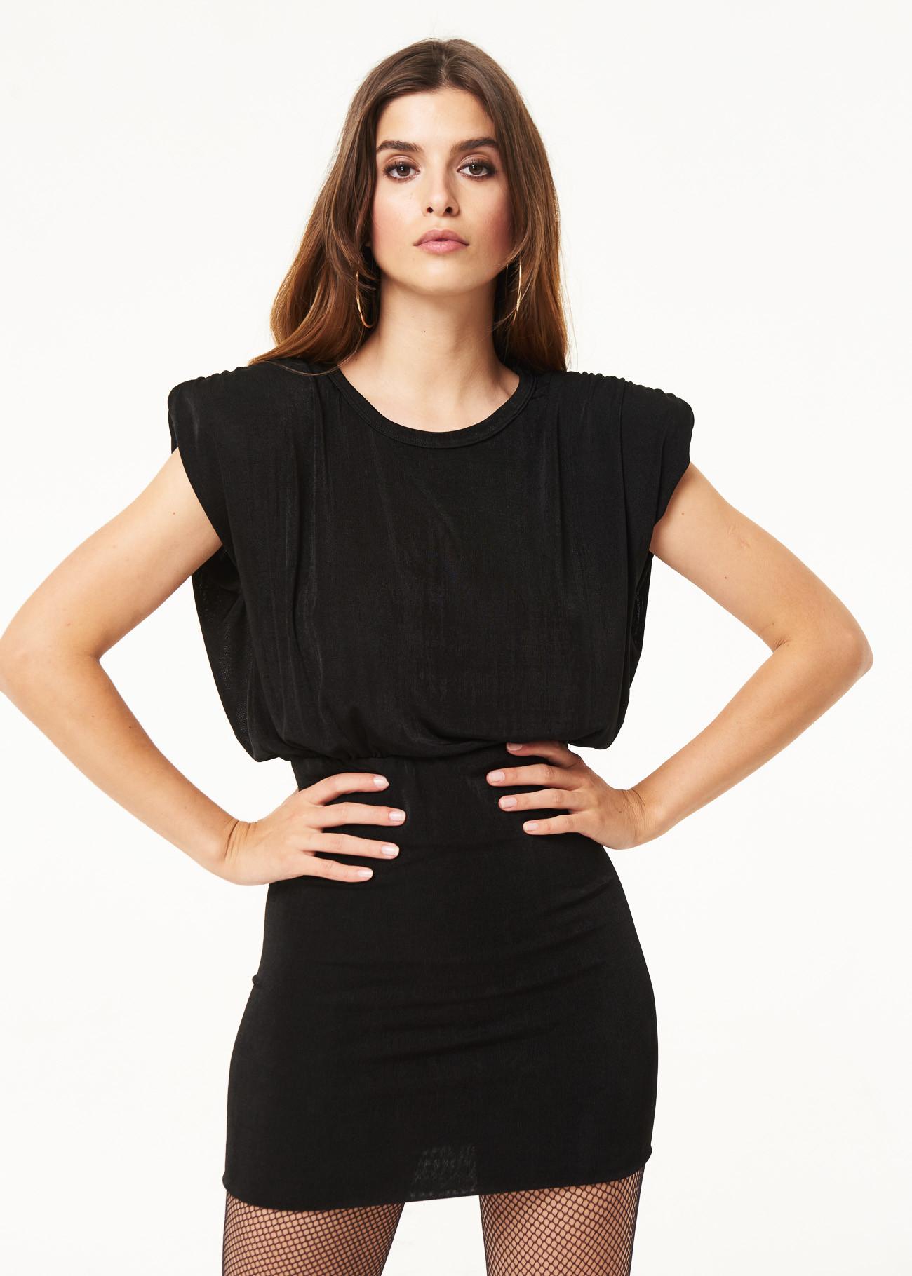 Dress in lycra armholers with shoulder pads DENNY ROSE |  | DD100122001