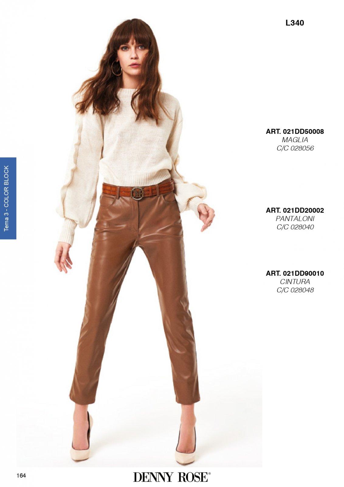 Pantalone in ecopellle  DENNY ROSE | Pantaloni | DD200023341