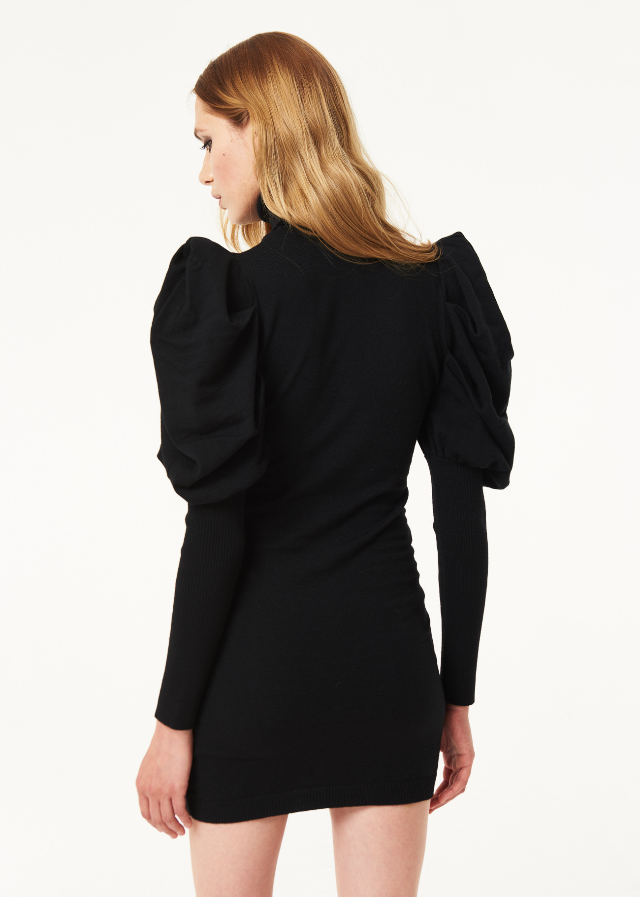 Wool short dress fitted hig collar  DENNY ROSE |  | DD500032001