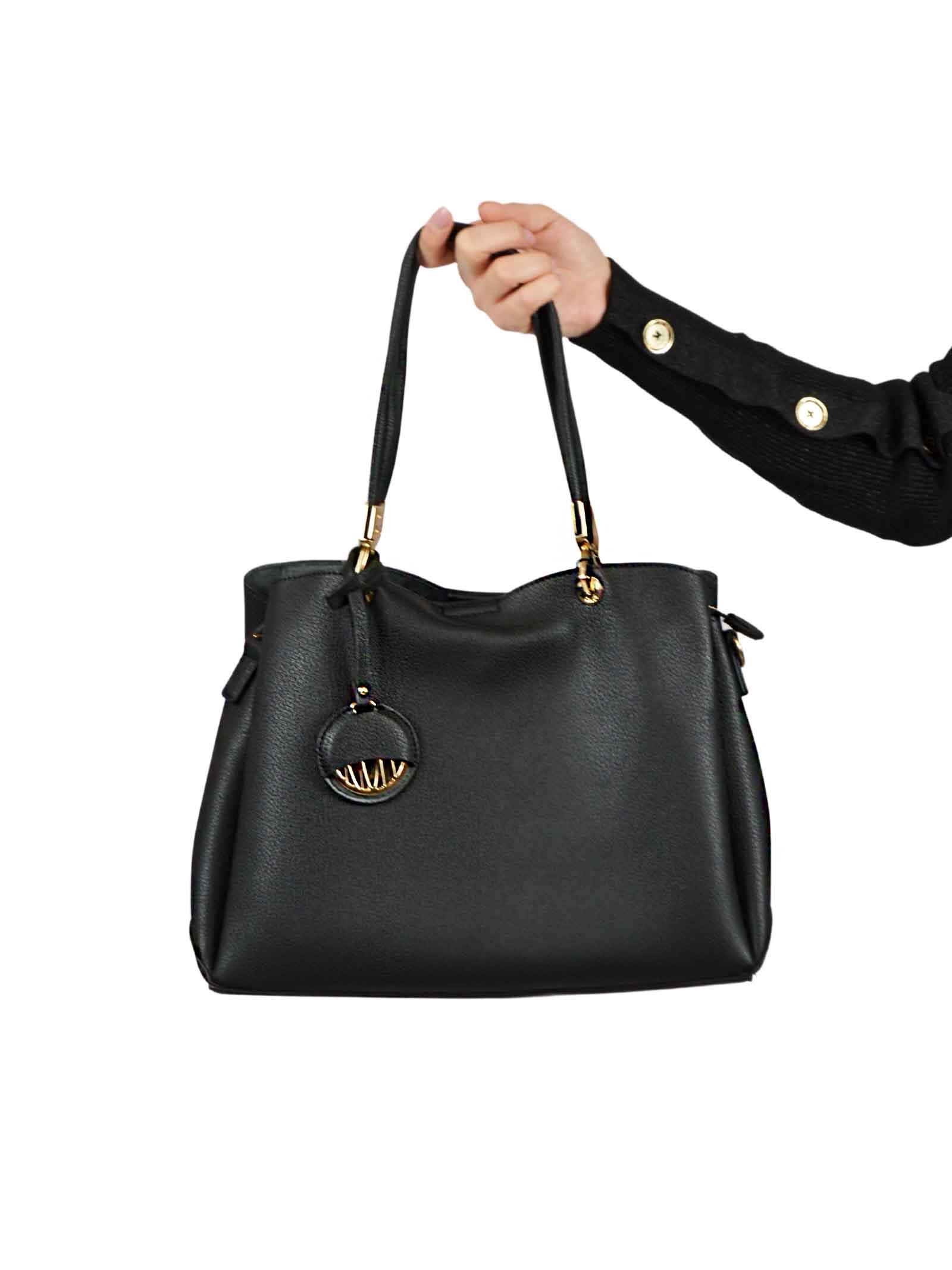 Top handle bag in soft leather GAUDI borse |  | V0A-71500BLACK
