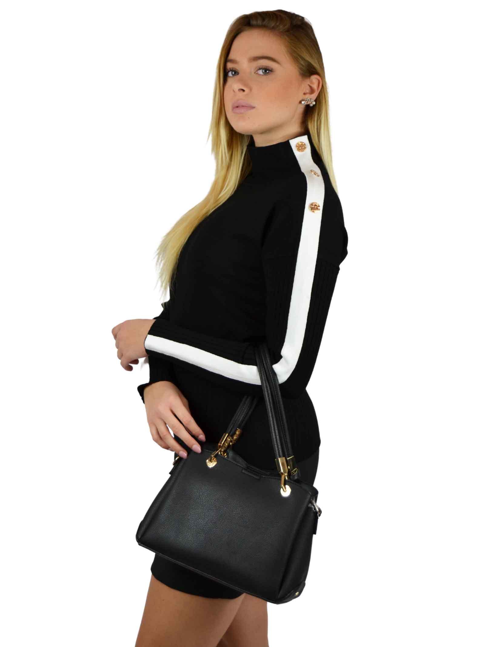Top handle bag made in a soft texture  GAUDI borse |  | V0A-71504BLACK