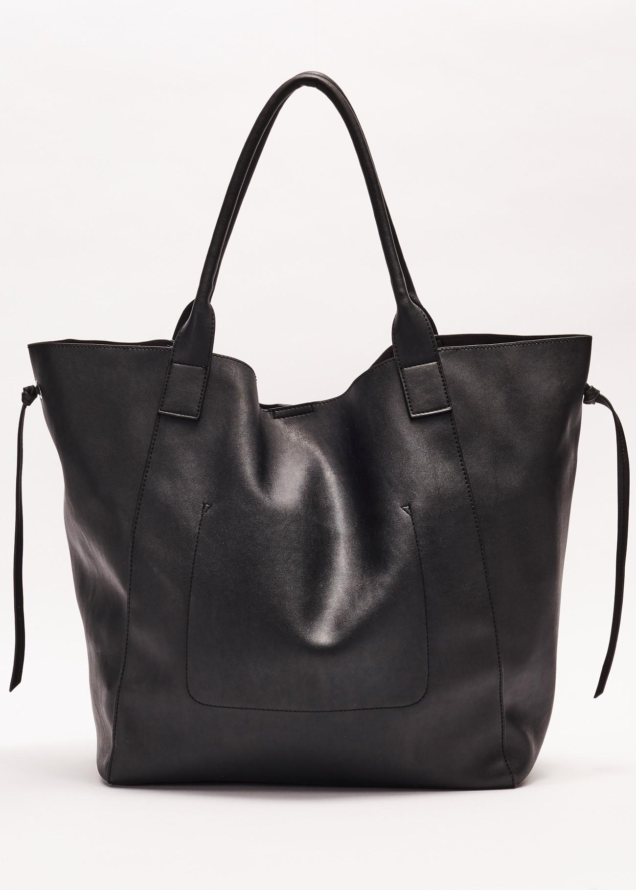 Shopping bag made of soft leather effect GAUDI borse      V0A-71552BLACK