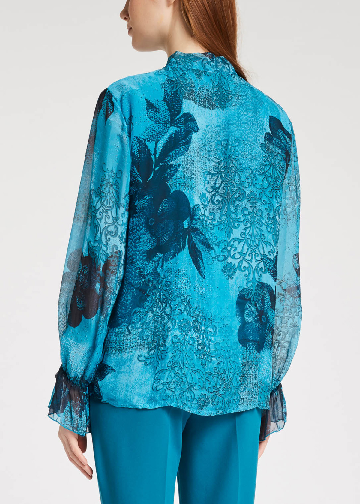 Georgettes shirt with floral print  GAUDI |  | FD45030021076-01