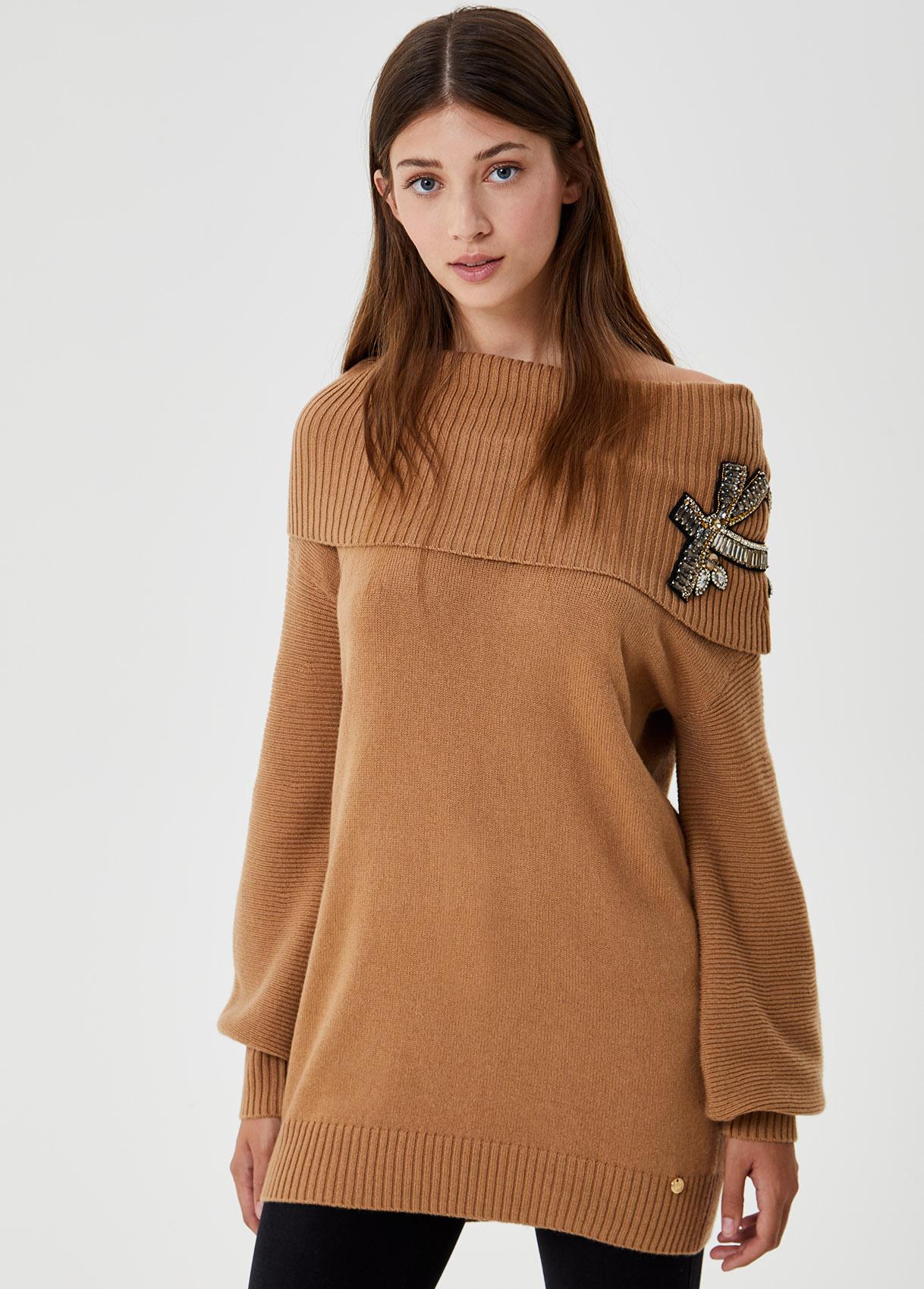 Sweater with neckline Bardot LIUJO COLLECTION      CF0076MA16G22222