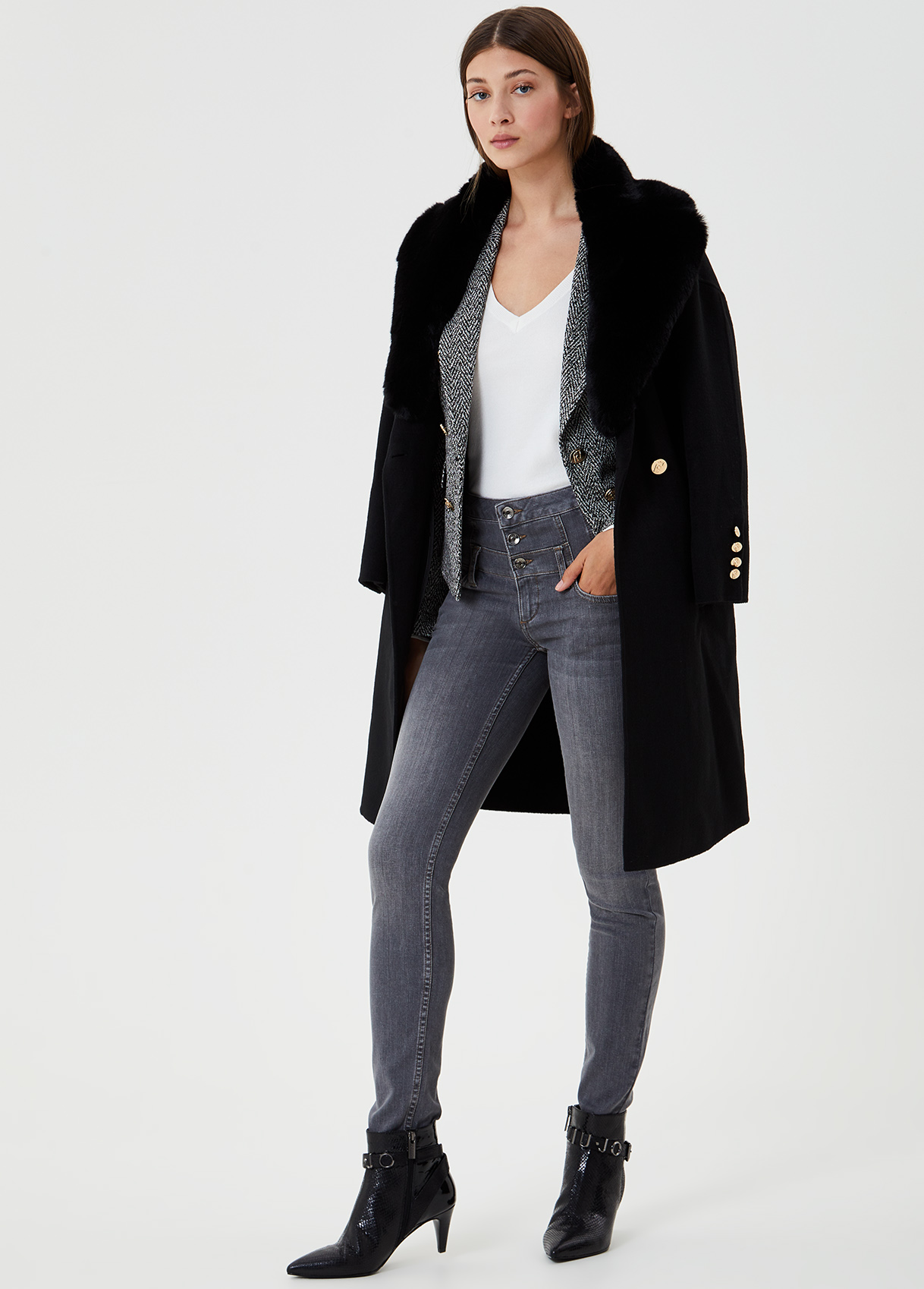 Medium lenght coat made with soft yarns wool blend LIUJO COLLECTION |  | CF0178T495222222