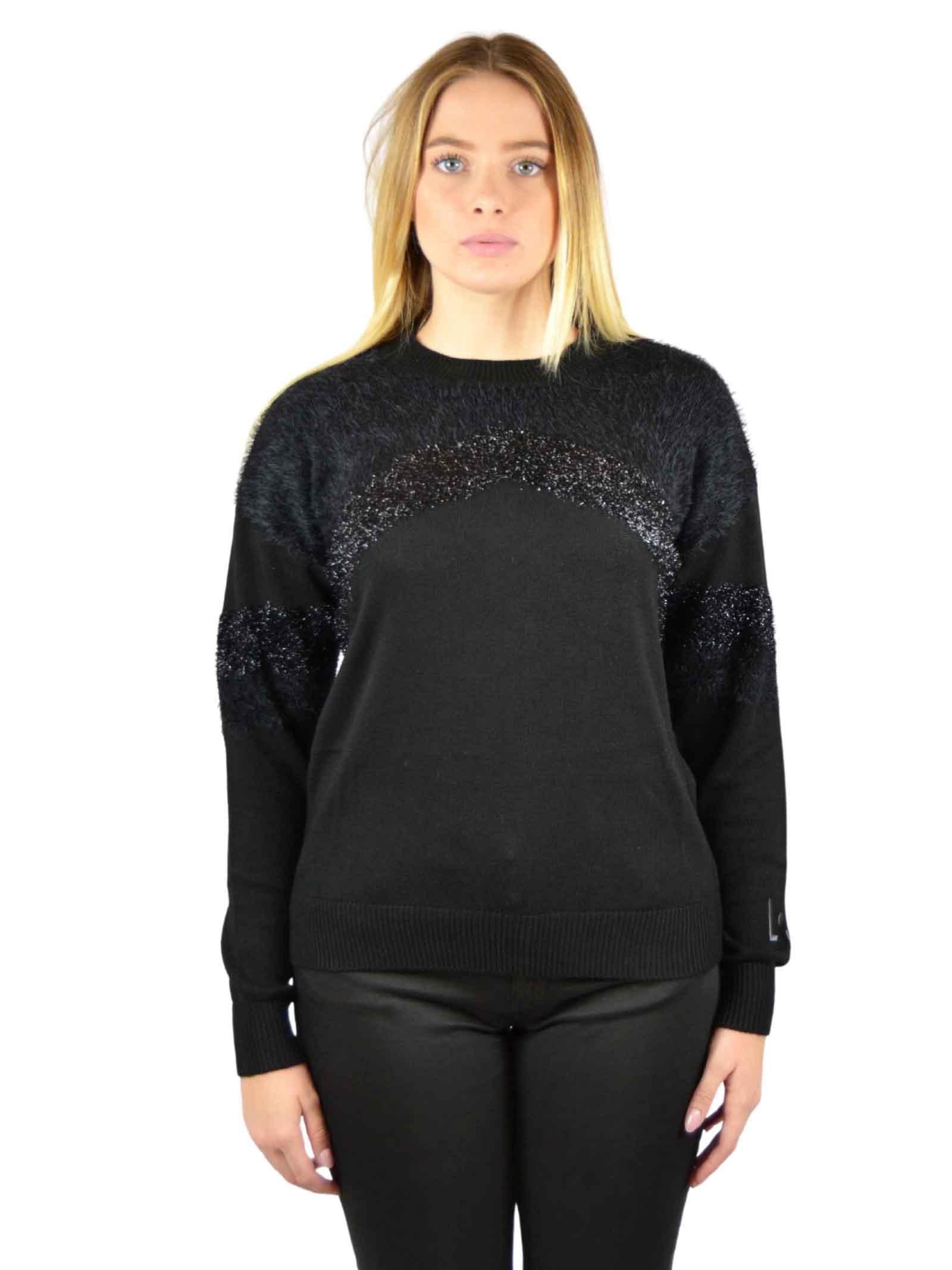 Sweater with crewneck lurex insert LIUJO SPORT |  | TF0072MAG34A3306