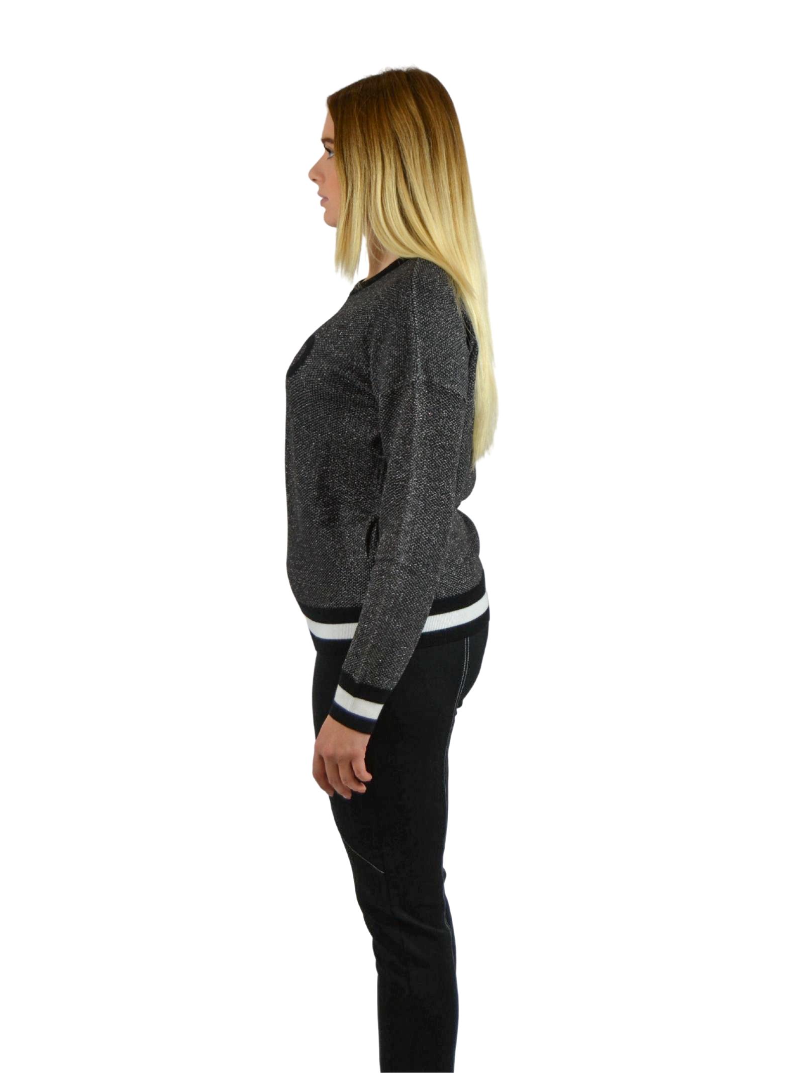 Jacquard Sweater in wool  with logo LIUJO SPORT |  | TF0075MA49104858