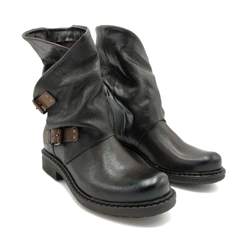 Stivali in pelle con fibbia Noa | Stivaletti | 550MORO