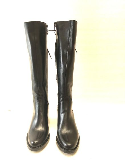 Stivale in pelle nero con allacciatura posteriore Noa | Stivali | VALERY01