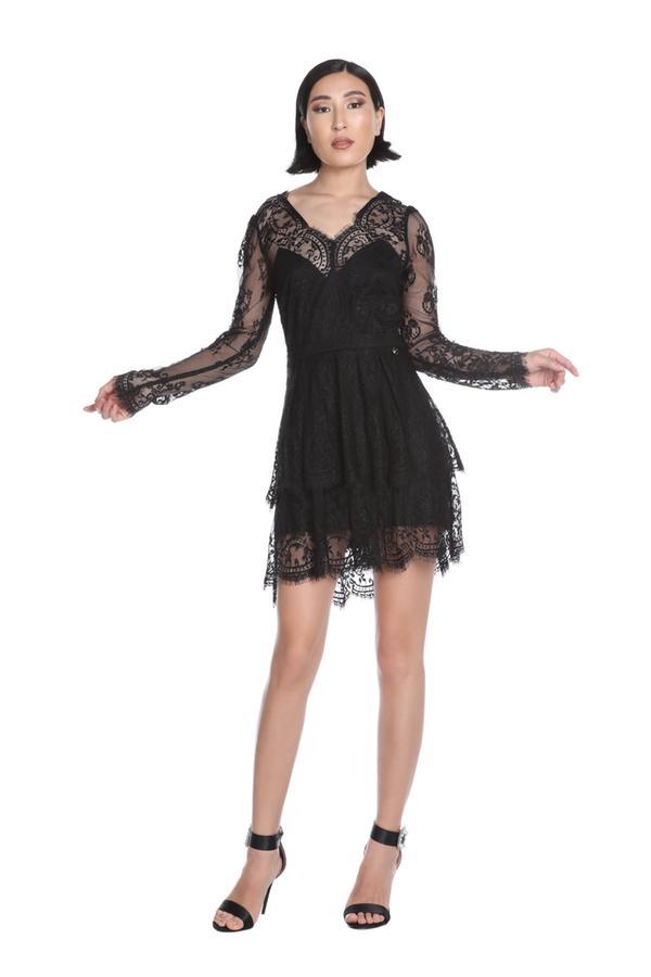 Short dress with long sleeve RELISH |  | DRESSINO1199
