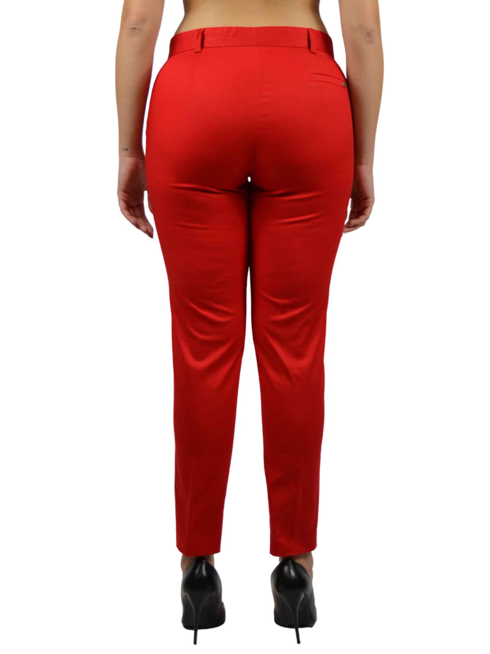 Trouser with a slightly high waist, CAPONE |  | 3052ROSSO