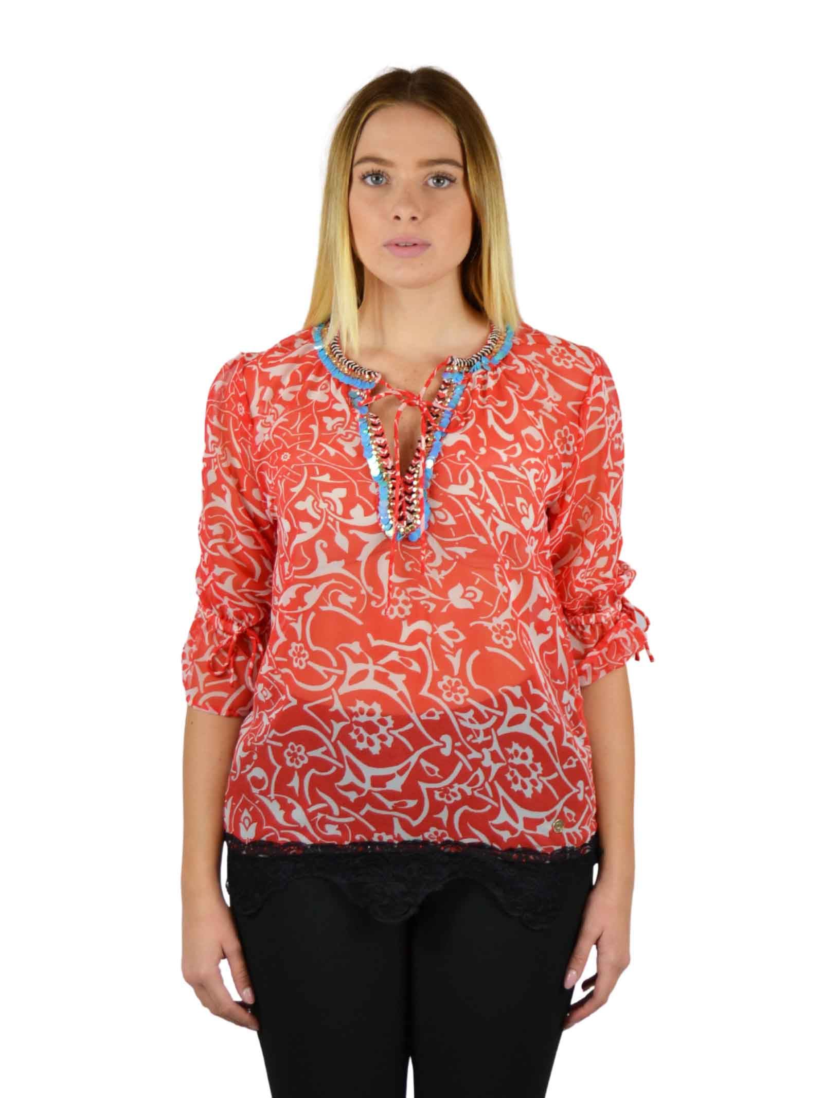 Blusa in tessuto fluido GAUDI | Camicie | BD45013915003-01