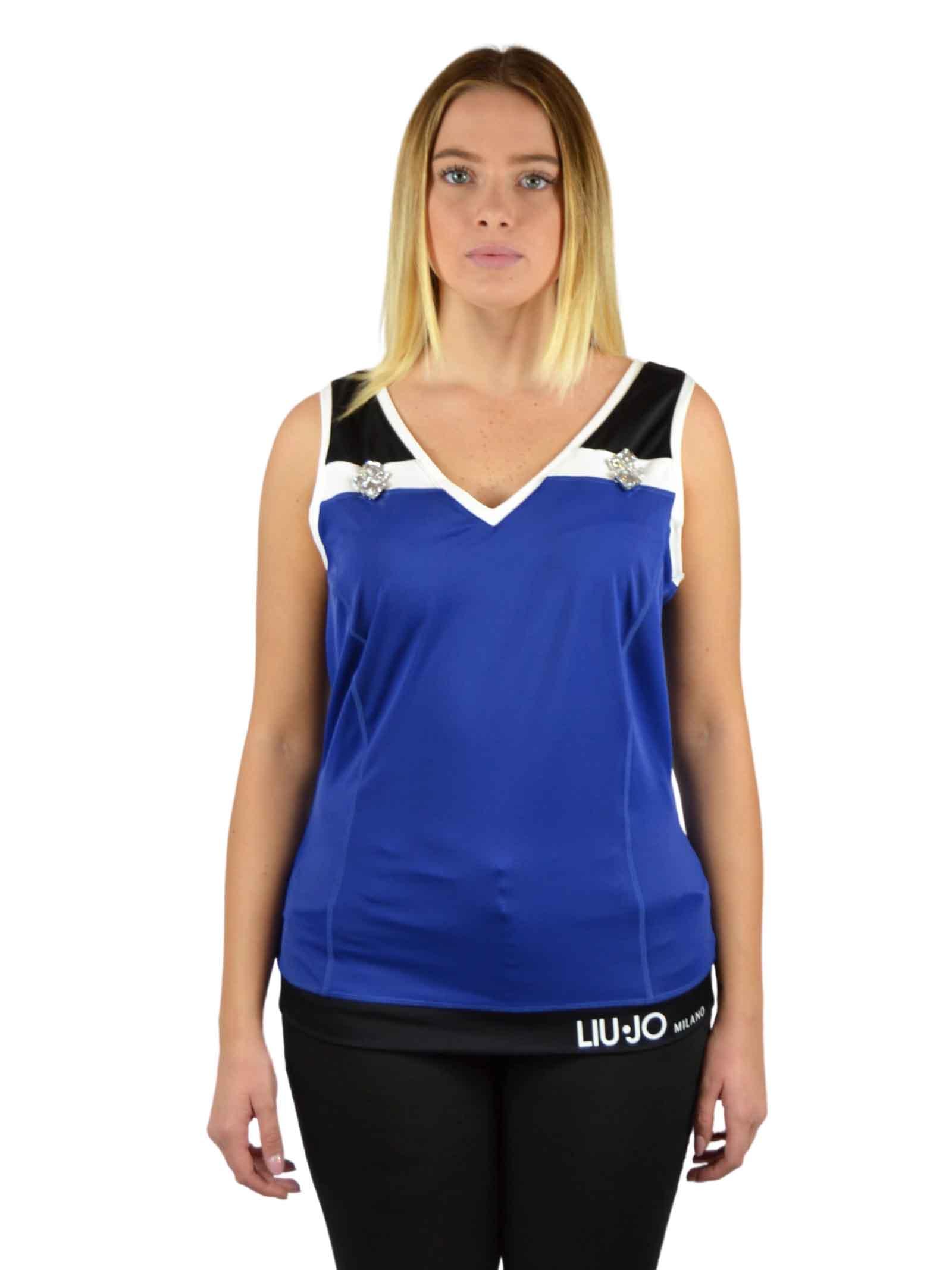 Lycra armhole and V-neck sweater LIUJO SPORT |  | T19051J7912B3295