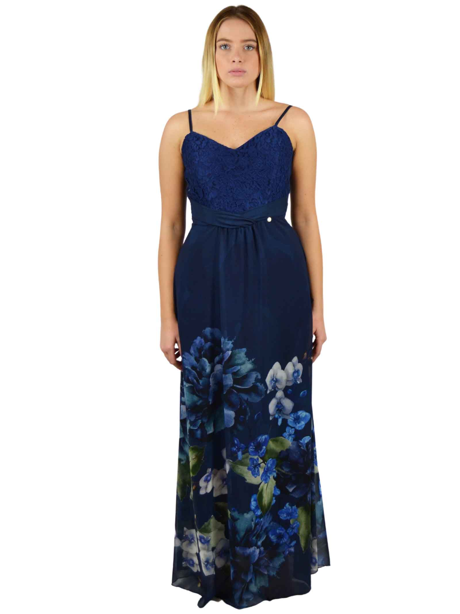 Long-Dress with embroidered lace bodice  RINASCIMENTO      PP55RR09AABLUE