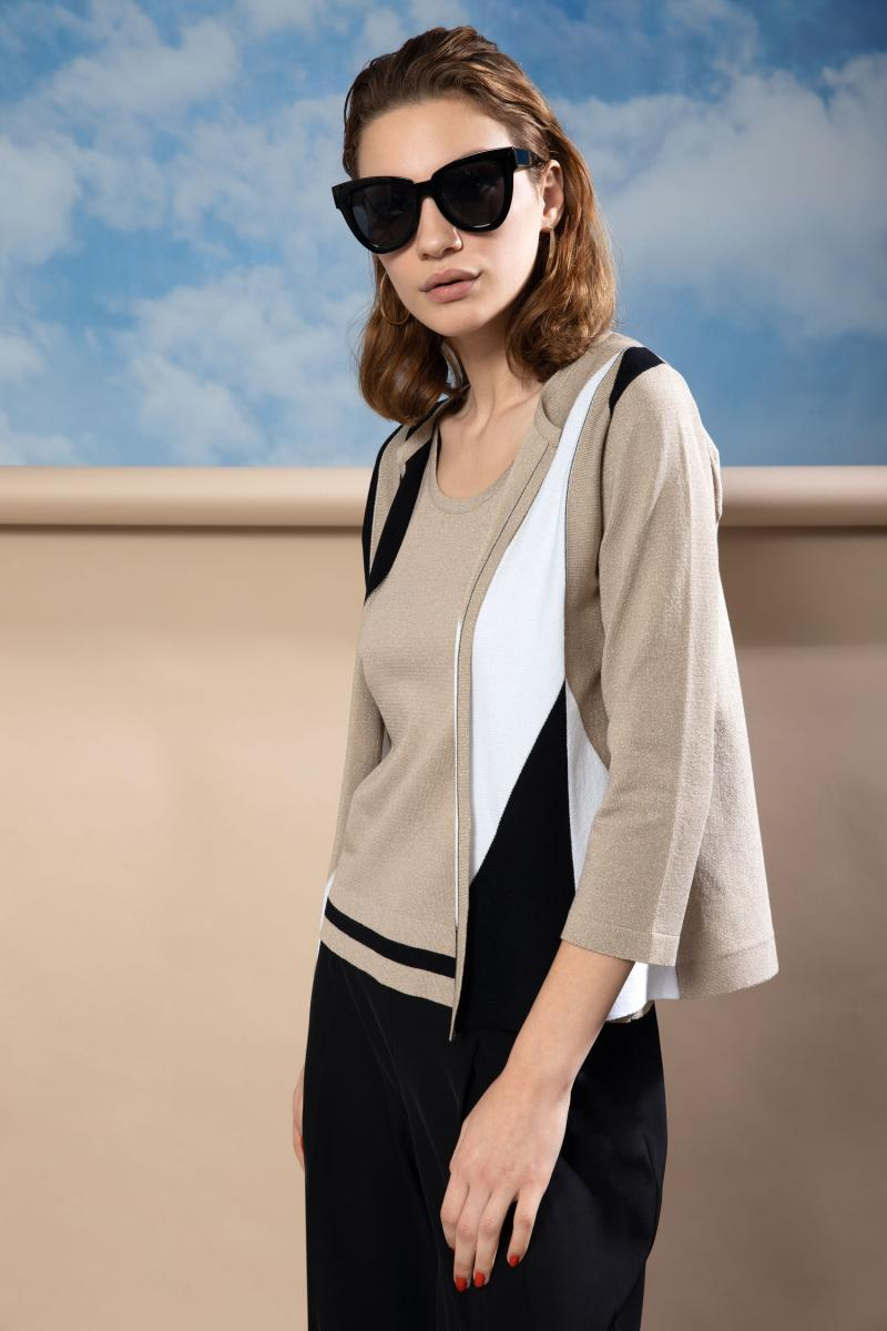 Open sweater in thread fabric  BENEDETTA VALERI |  | GEINAORO
