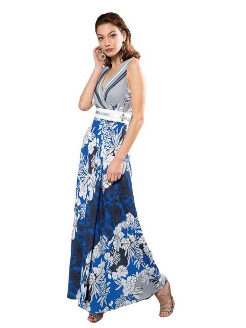 Long patterned dress in viscose  BENEDETTA VALERI |  | SAGATBLU