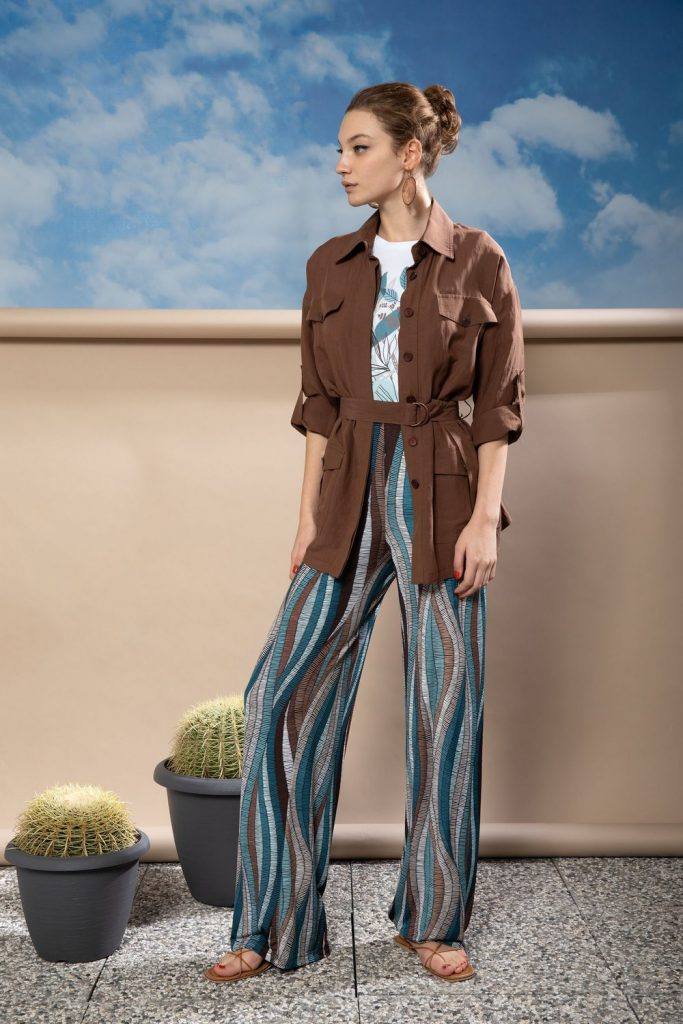 pantalone in jersey BENEDETTA VALERI | Pantaloni | SCULTOREFANTASIA