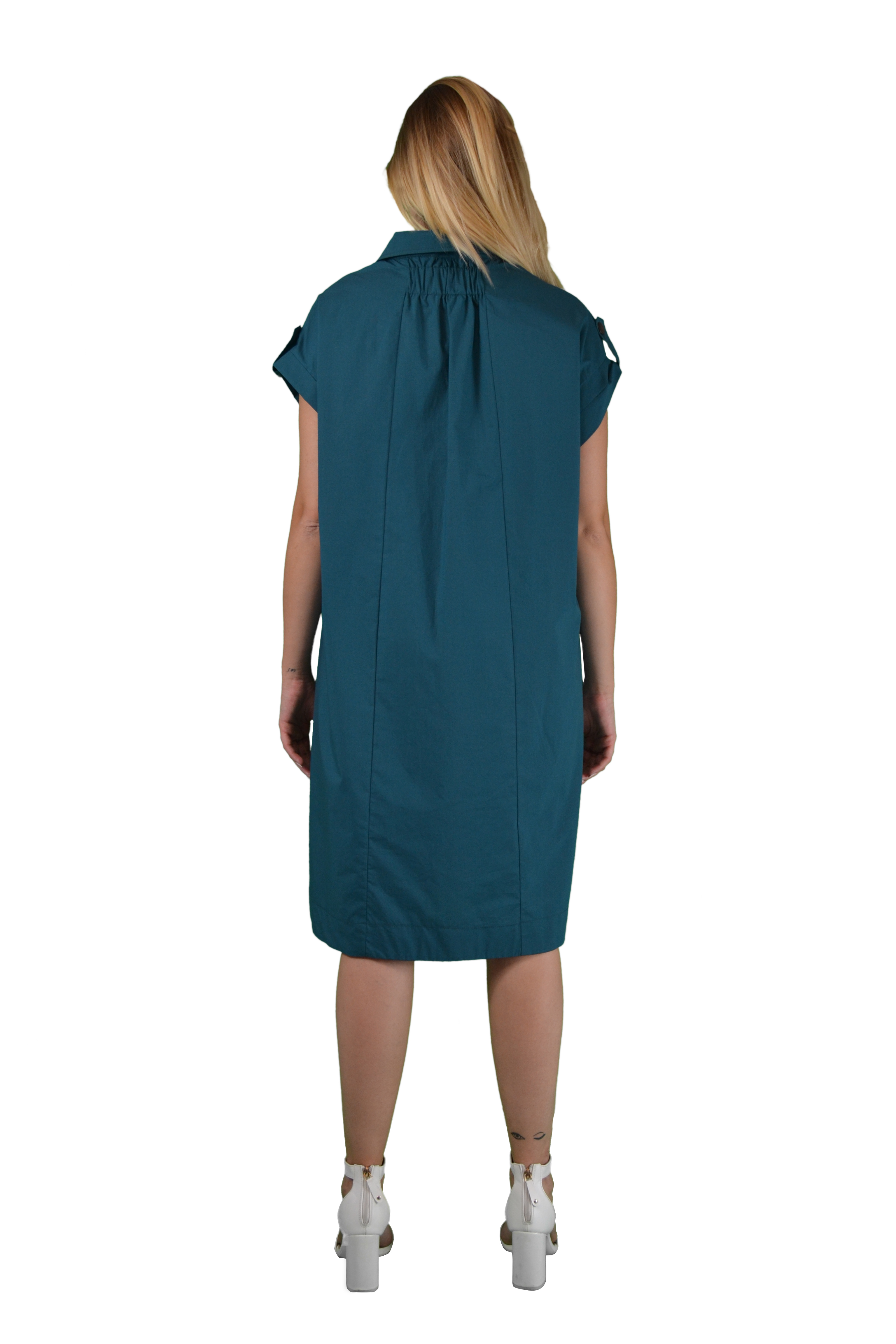 Dress with pistagna collar BENEDETTA VALERI |  | TASSELLOVERDE