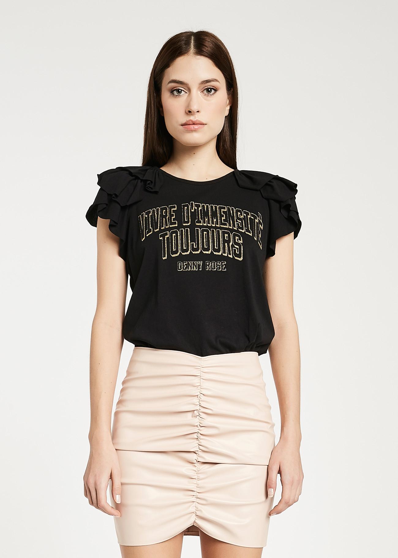 T-shirt di cotone DENNY ROSE | Maglie | DD600262001