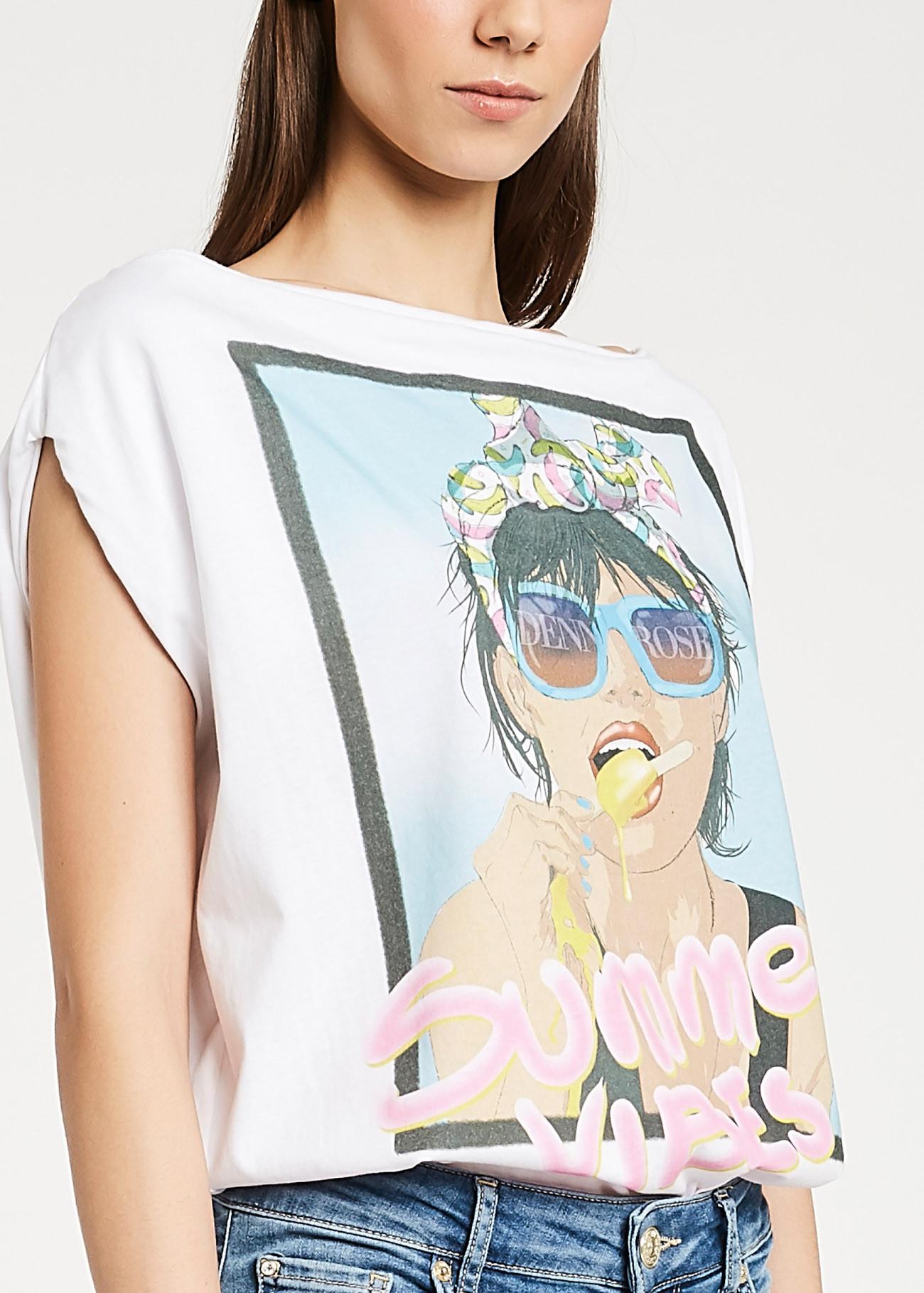Boat neckline t-shirt  DENNY ROSE |  | DD600352100