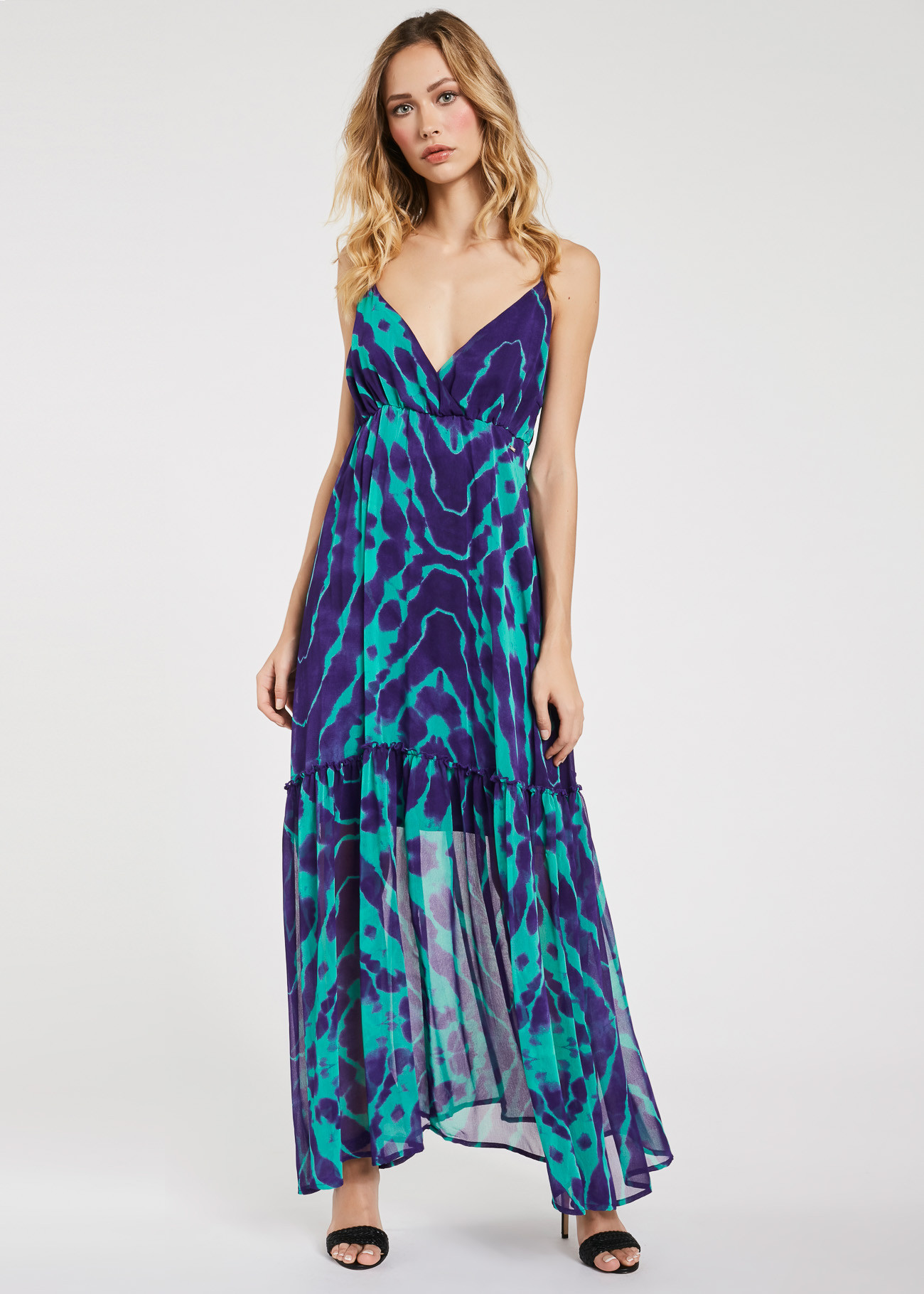 Long dress in georgettes fabric  GAUDI FASHION |  | FD15016011008-01