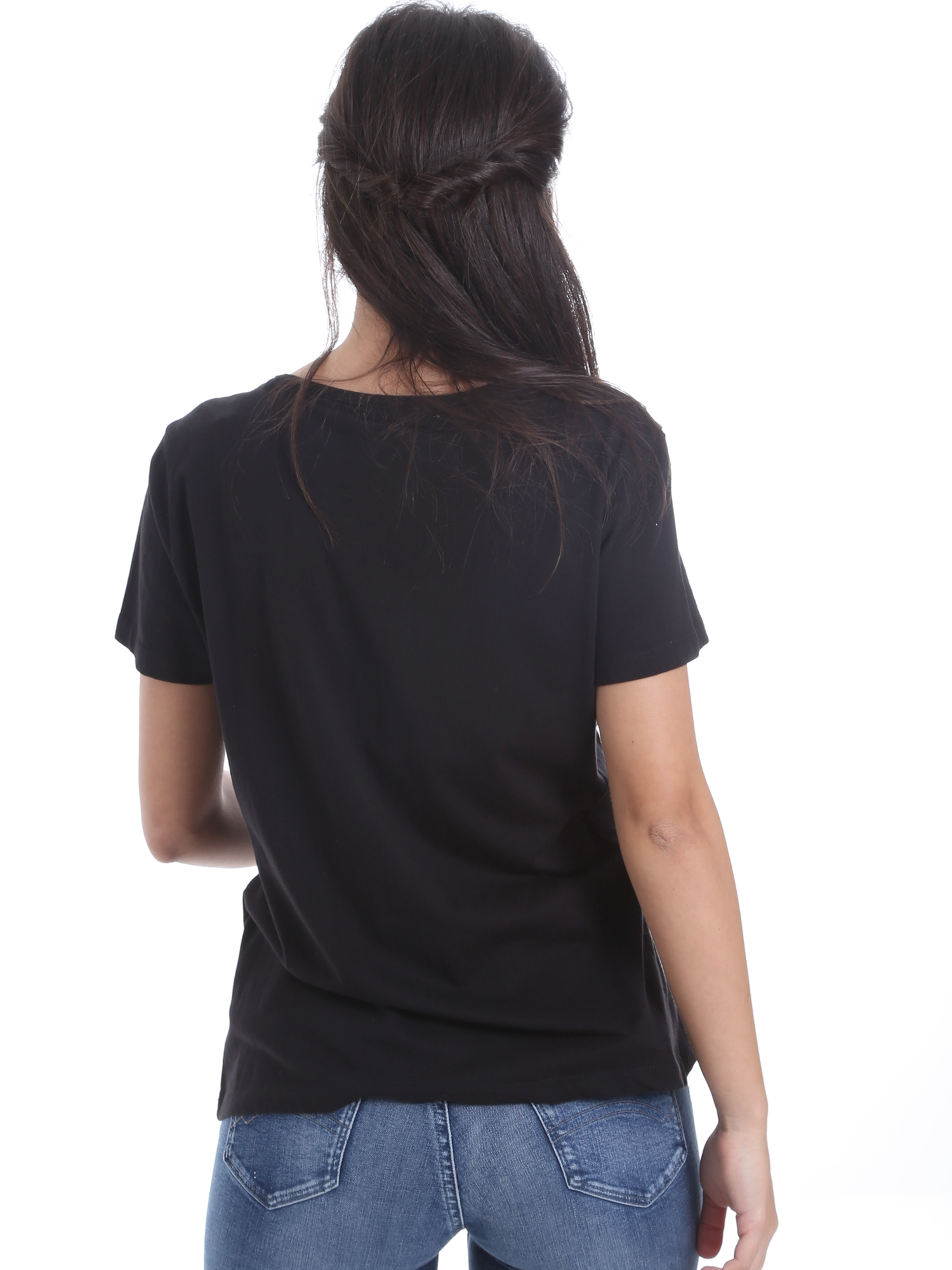 Cotton jersey shirt with V-neck GAUDI JEANS |  | BD640172001