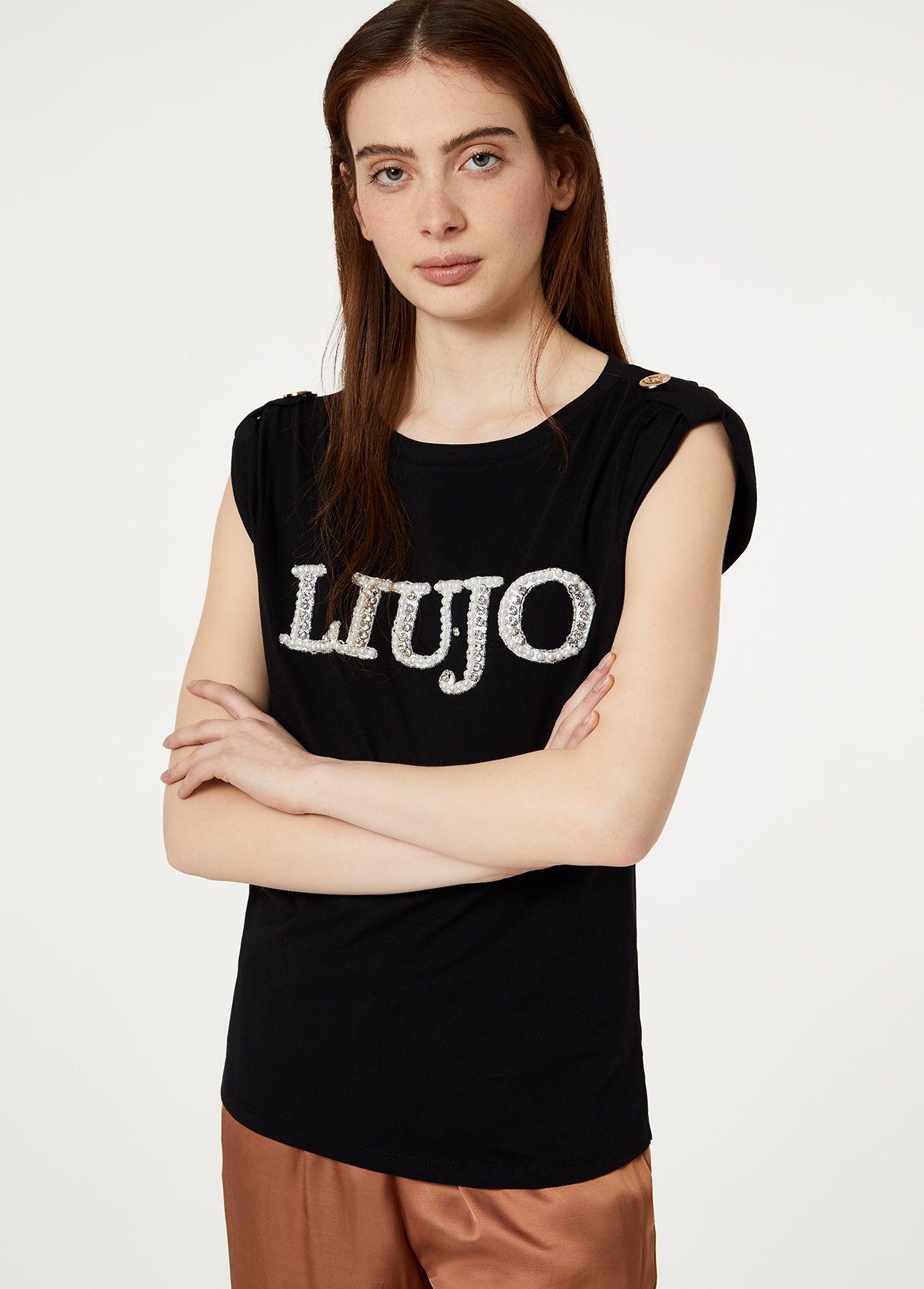 T shirt effetto canotta LIUJO COLLECTION | Maglie | CA0121J596911111