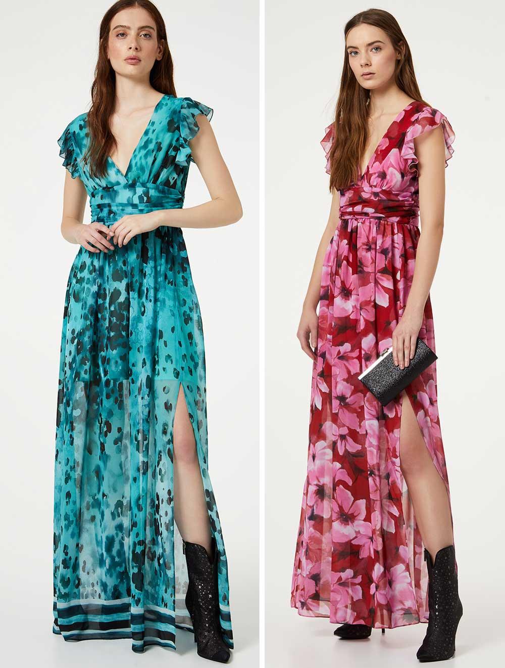 Long dress with V-neck LIUJO GOLD |  | IA0157T2361U9686
