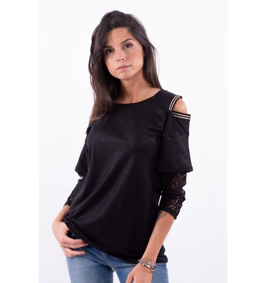 T-shirt con maniche di pizzo LIUJO SPORT | Maglie | TA0119J500322222