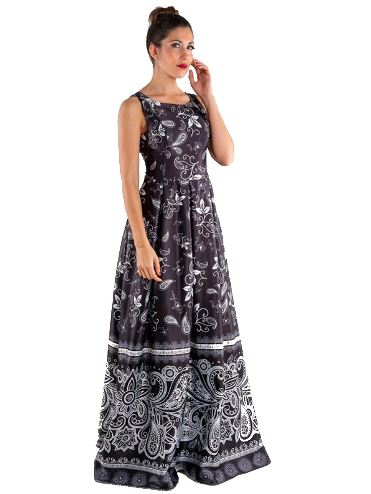 Long dress in cotton sateen  SAVUKA |  | 31682-ENERO