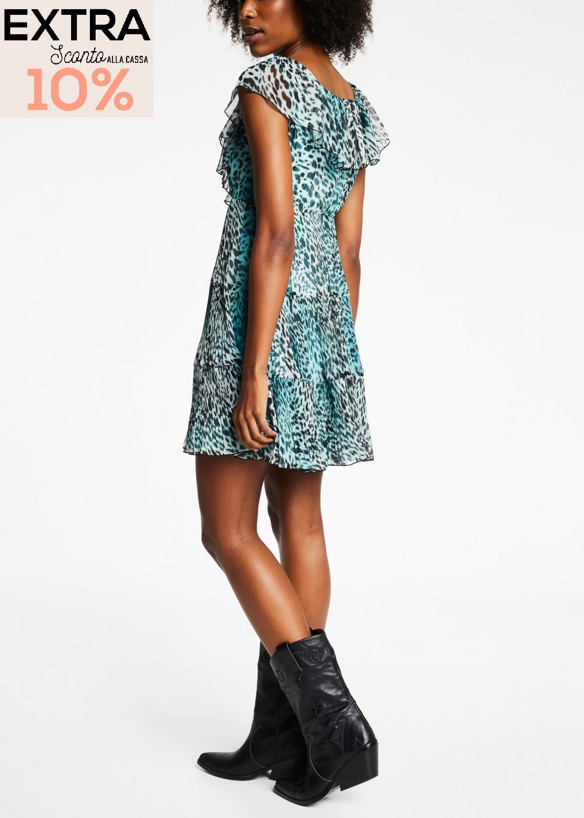 Dress in camouflage in georgettes  DENNY ROSE |  | DD1001702
