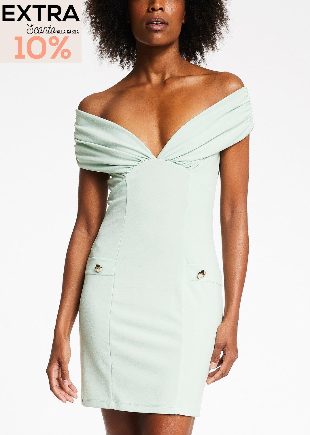 Dress with bardot neckline  DENNY ROSE |  | DD100322632