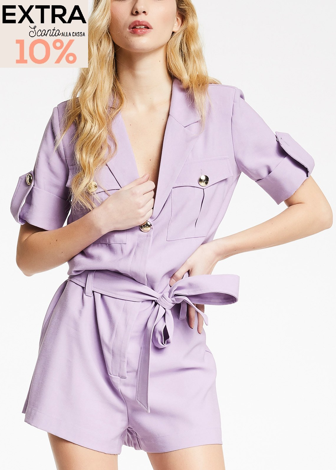 Jumpsuit with collar  DENNY ROSE |  | DD200022102