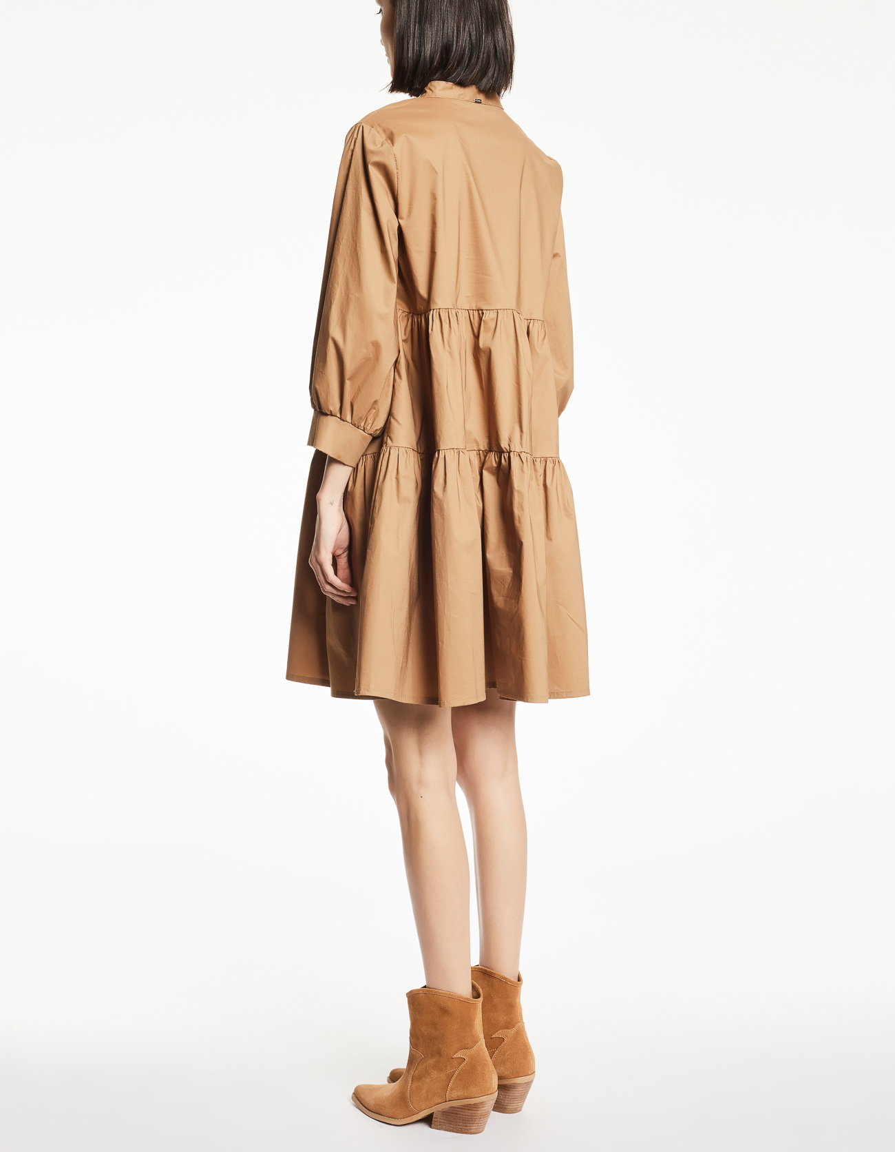 V-neck dress with 34 sleeves GAUDI |  | FD150572858