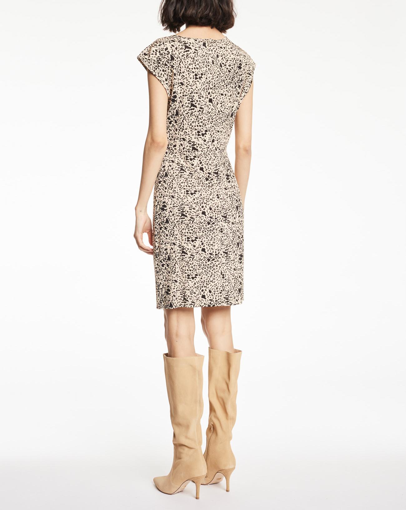 Dress in jersey with animalier print  GAUDI |  | BD14004115050-01