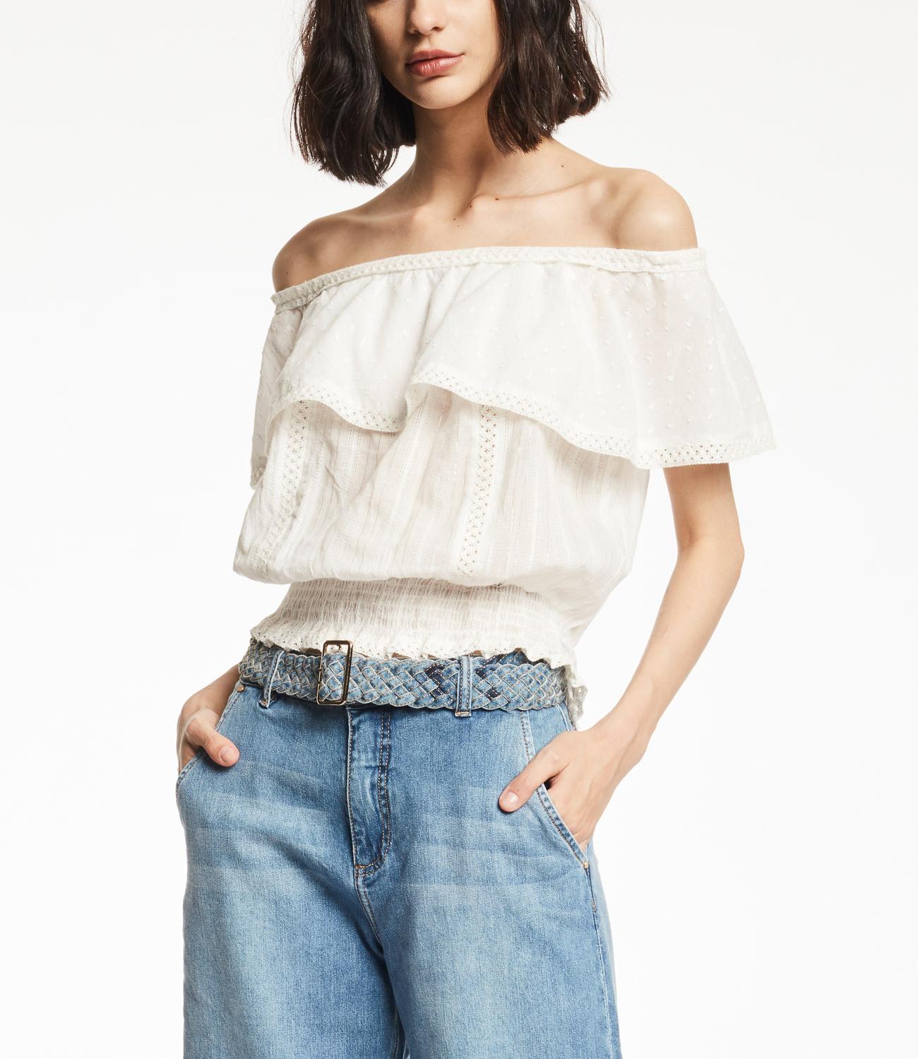 Shirt with off shoulder  GAUDI |  | BD450232101