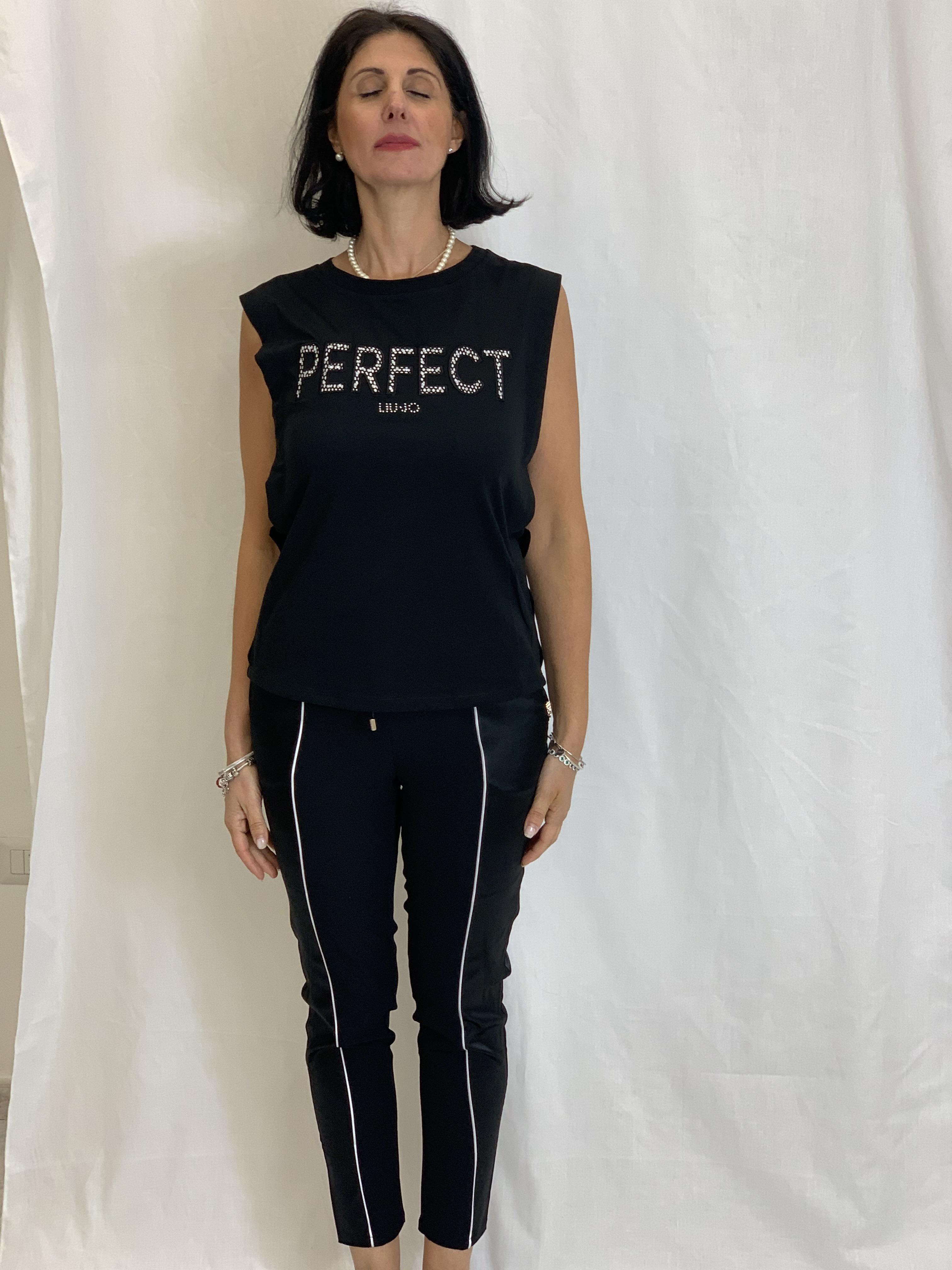 T-shirt con stampa LIUJO | Maglia | TA1110J500322222