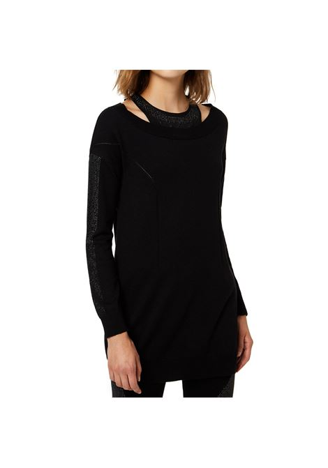 Long sweater with microsvarosky on the neck LIUJO SPORT |  | T69116MAG5322222