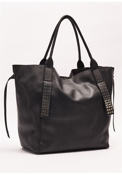 Shopping bag made of soft leather effect GAUDI borse |  | V0A-71552BLACK