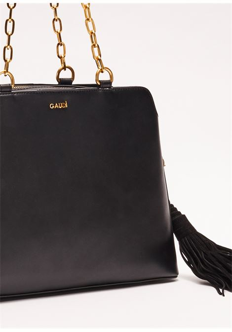 Shopping bag made in soft texture leather effect GAUDI borse |  | V0A-71570BLACK
